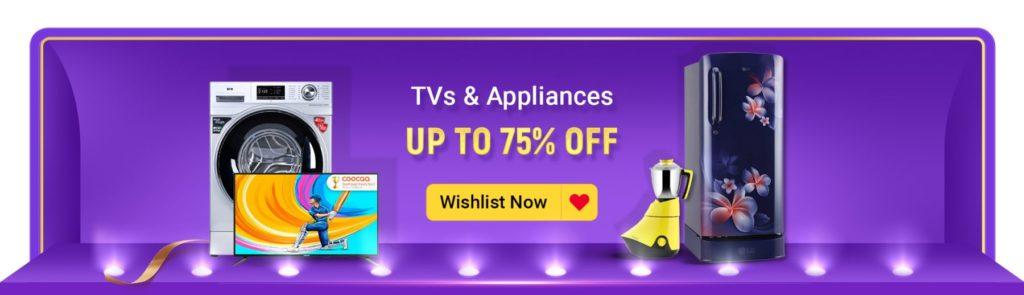Flipkart Big Billion Day 2020 TV Offers