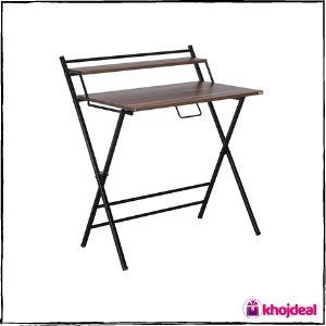 WOODWARE Futura Engineered Wood Folding Study Table (Dark Brown)