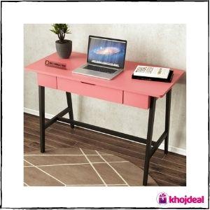Decornation Engineered Wood Study Table (Pink)