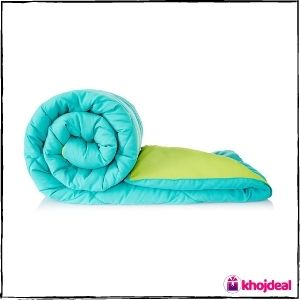 Amazon Solimo Comforter (Aqua Blue & Olive Green) - Best Overall Blanket