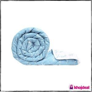 Divine Casa Luxor Abstract Microfibre Single Comforter - Blue - Best Budget Blanket
