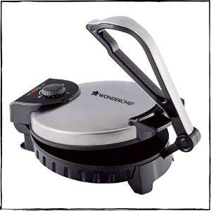 Wonderchef Magic 1100-Watt Roti Maker (Steel)