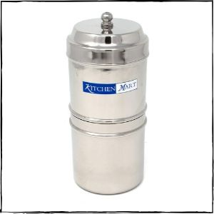 Kitchen Mart Stainless Steel South Indian Filter Coffee Drip Maker