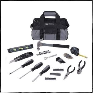 AmazonBasics 65-Piece Home Repair Kit, Multi-colour