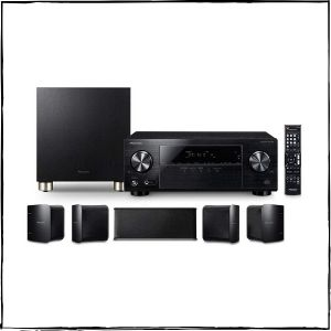 Pioneer HTP-074 Home Theater Package with 5.1-channel AV Receiver, 5 Speakers & 1 Subwoofer