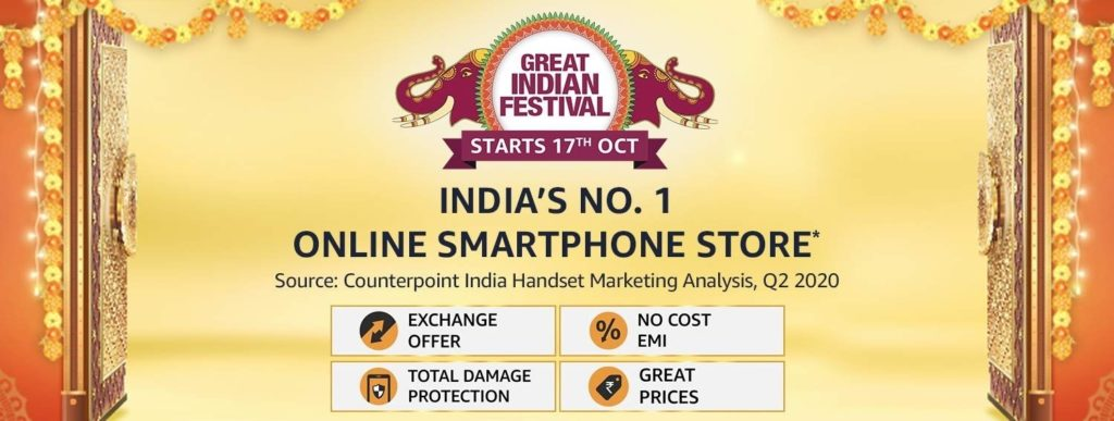 Amazon Great Indian Sale 2020 Mobile Offers