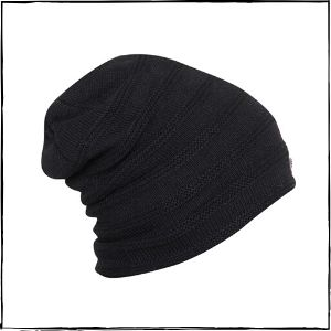 FabSeasons Acrylic Woolen Slouchy Beanie (Black)