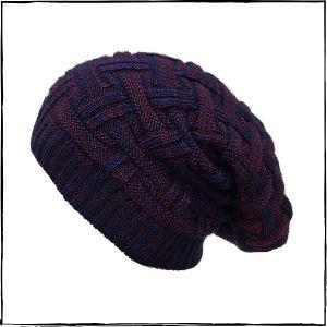 Gajraj Knitted Beanie Cap (Purple)