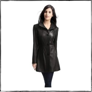 Luis Leather Long Leather Jacket