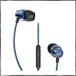 boAt BassHeads 182 Wired Earphones (Blue)