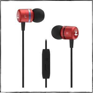 boAt Bassheads 107 Wired Earphones (Red)