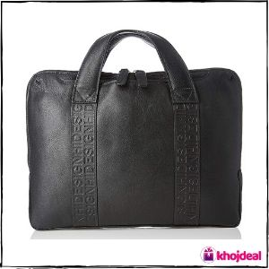 Hidesign Leather Black Laptop Bag