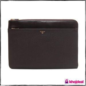 Da Milano Brown Genuine Leather Laptop Bag