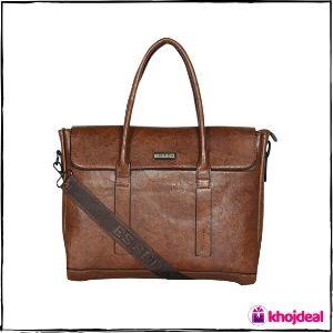Esbeda Tan Color Regular Size Metropolitan Laptop Bag