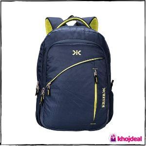 Killer Louis 38L Large Navy Blue Polyester Laptop Backpack