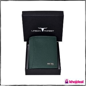 Urban Forest Orlando Green Leather Wallet
