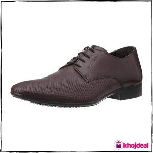 Red Tape Men's Derby Leather Formal Shoes (Bordo)
