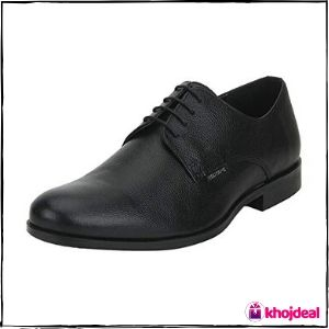 Red Tape Men's Round Toe Formal Shoes (Black)
