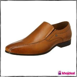 Red Tape Men's Slip On Formal Shoes (Tan)