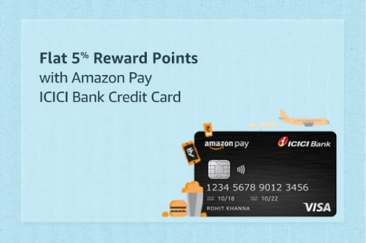 Earn Unlimited 5% Reward Points with Amazon Pay ICICI Bank Credit Card