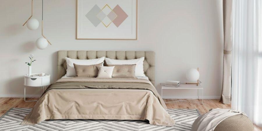 Zen decor in the bedroom