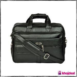 ZIPLINE Vegan Leather Laptop Bag (15.6-inch)