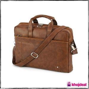 TULMAN PU Leather Laptop Bag (15.6-inch)