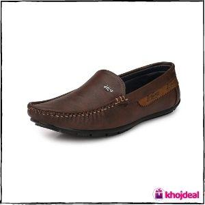 Knoos Men's Loafer Shoes (Brown)