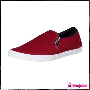 Chevit Men's Loafer Shoes (Maroon)
