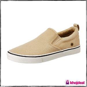 Amazon Brand - Inkast Denim Co. Men's Canvas Loafer Shoes (Beige)