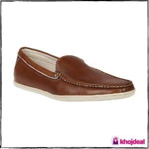 Franco Leone Men's Loafer Shoes (Tan)