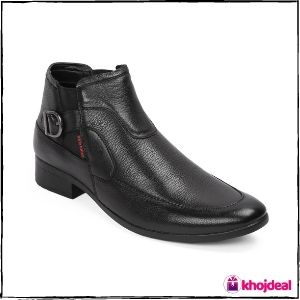 Red Chief Men's Slip-on Formal Shoes (Black)