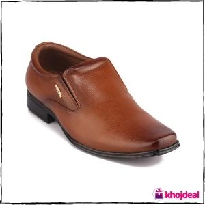 Red Chief Slip-on Leather Formal Shoes for Men (Tan)