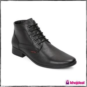 Red Chief Men's Lace-up Formal Shoes (Black)
