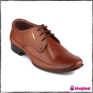 Red Chief Men's Lace-up Formal Shoes (Tan)