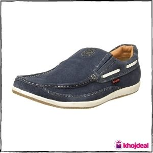Red Chief Men's Leather Slip-on Casual Shoes (Blue)