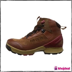 Red Chief Lace-up Leather Boot Shoes for Men (Tan)