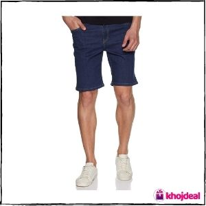Amazon Brand - Inkast Denim Co. Men's Slim Fit Cotton Shorts (Dark Blue)