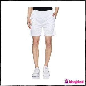 Amazon Brand - Symactive Men's Regular Fit Sports Shorts (White)