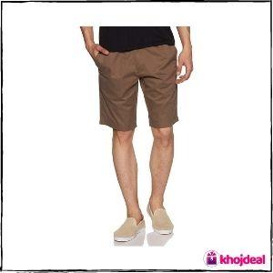 Jockey Men's Regular Fit Cotton Shorts (Dark Khaki)
