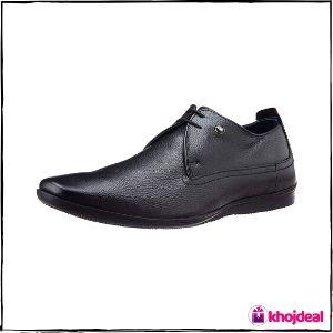 Louis Philippe Men's Black Formal Shoes : Derby
