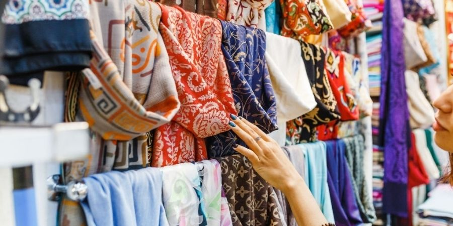 Fresh and colorful summer scarves, an essential accessory