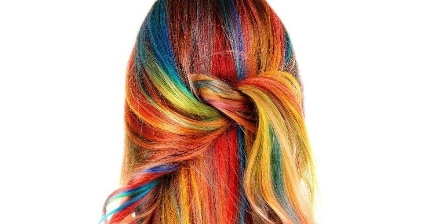 The rainbow hair trend