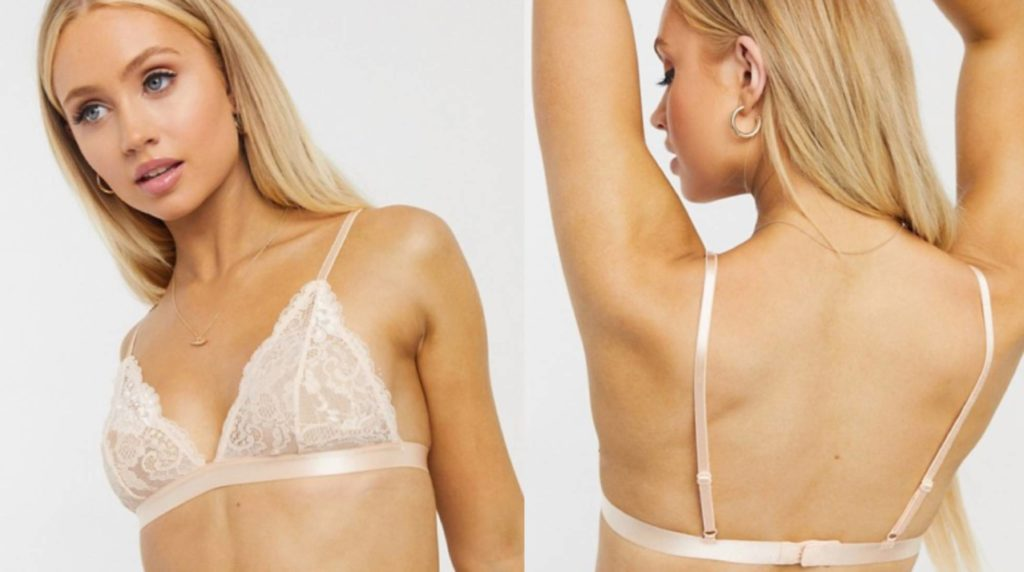 Triangle for women with little chest