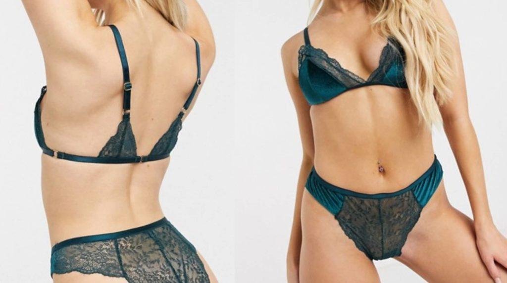 Brazilian panties to stylize shallow curves