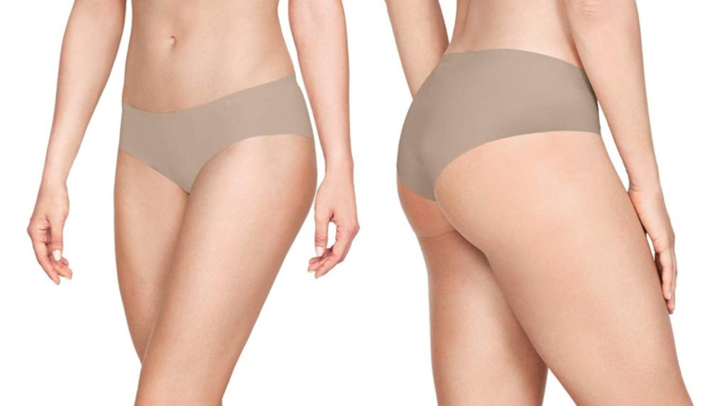 With invisible seams for tight clothing