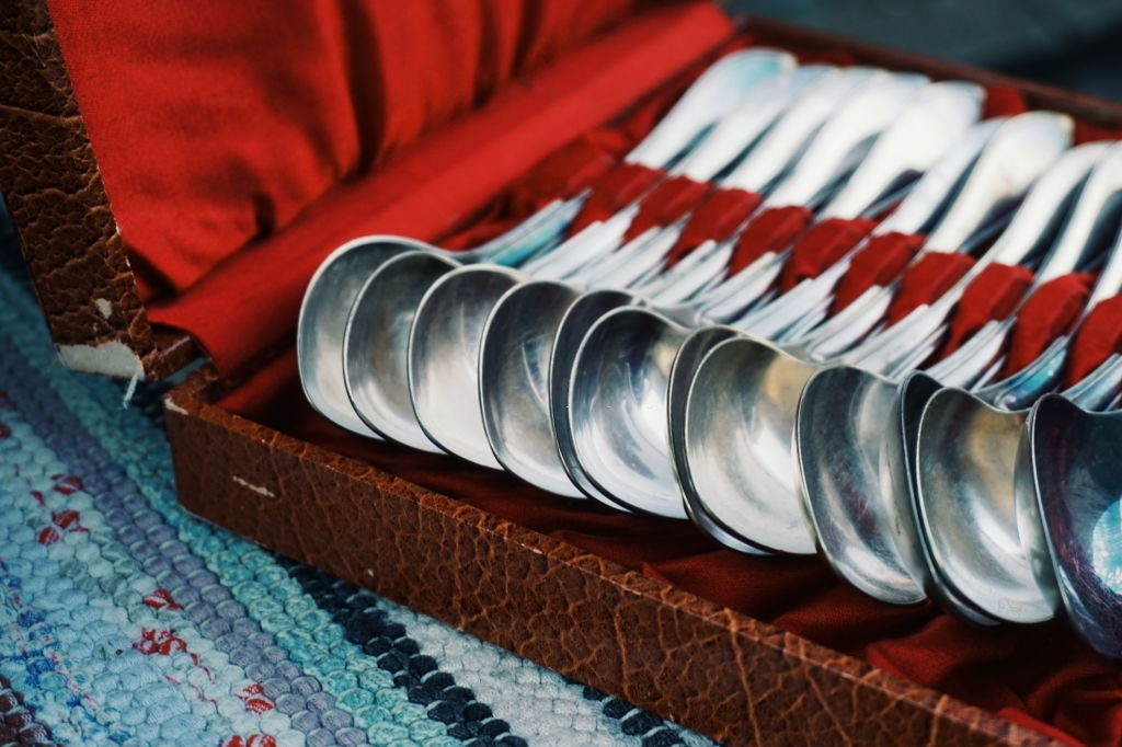Silver Spoons in a Case
