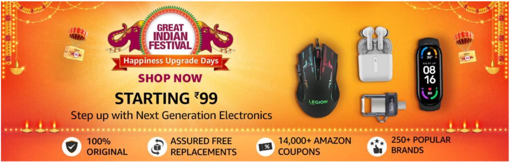 Amazon Diwali Offers On Electronics