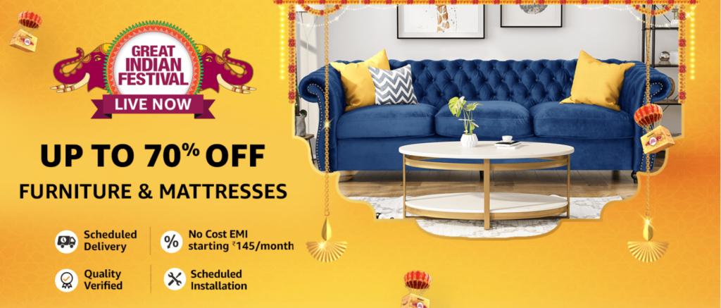 Amazon Diwali Sale Offers On Furniture