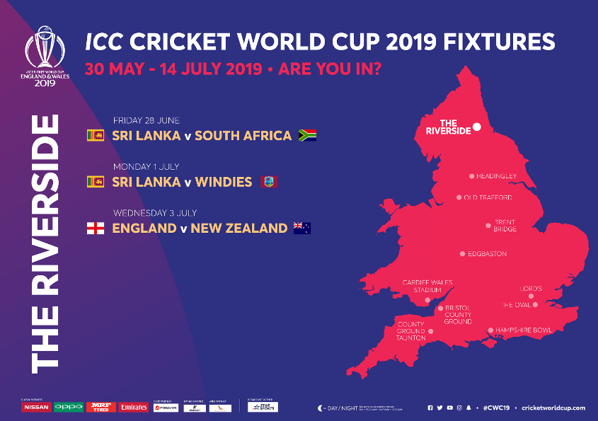 The Riverside Durham Stadium ICC Cricket World Cup 2020 Venue